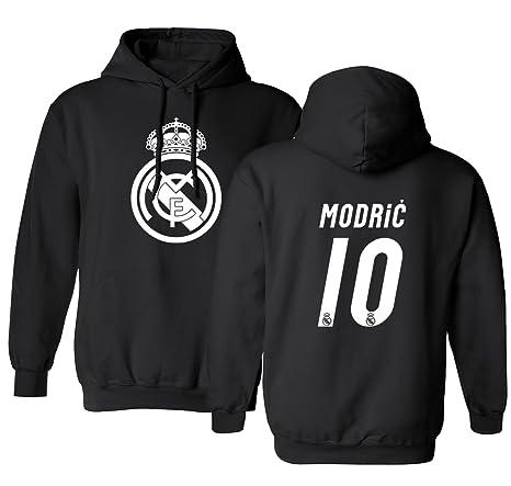Da Luka Cappuccio Uomo Con Maglietta Madrid Calcio Black Jersey 10 Real Modric Cf05qcwZ