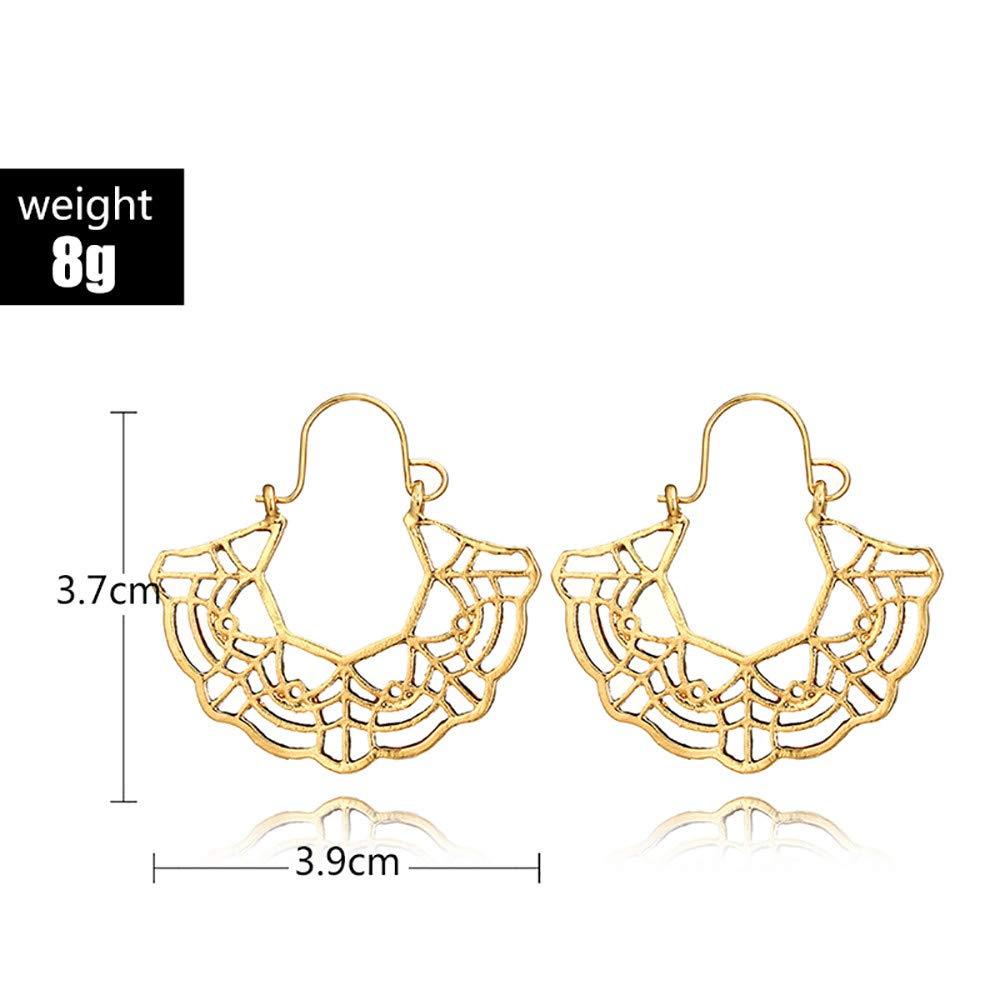 Meisiqw Ginkgo Leaf Stud Earrings Scalloped Hollow Jewelry Set Fashion Gifts for Women Girls