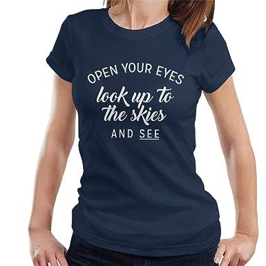 c07b32a7 Coto7 Queen Bohemian Rhapsody Lyrics Women's T-Shirt: Amazon.co.uk ...
