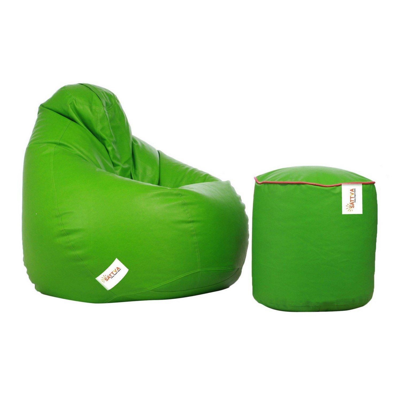 Super Sattva Combo Classic Xl Bean Bag Neon Green And Round Machost Co Dining Chair Design Ideas Machostcouk