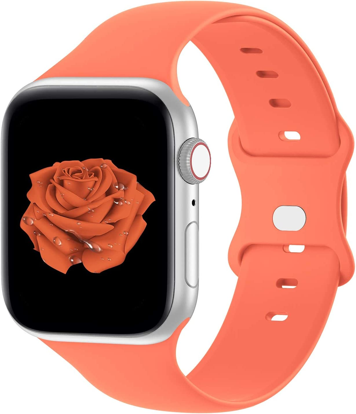 Bandiction Compatible with Apple Watch Series 3 38mm Series 5 40mm iWatch Bands 38mm 40mm, Soft Silicone Sport Replacement Strap Compatible for iWatch SE Series 6 5 4 3 2 1, Sport Edition, 38/40MM
