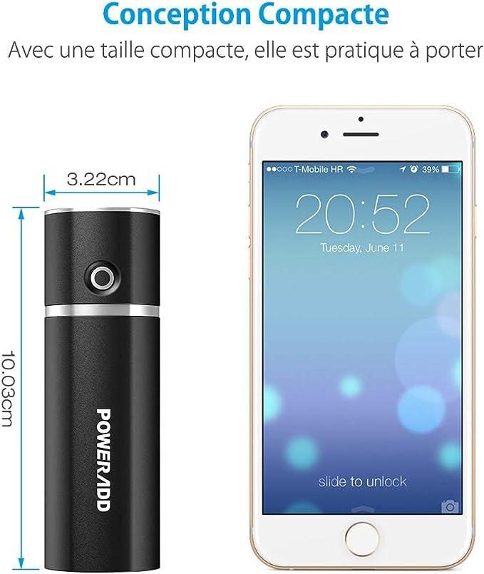 Poweradd Slim2 5000mAh Chargeur Portable Batterie de Secours