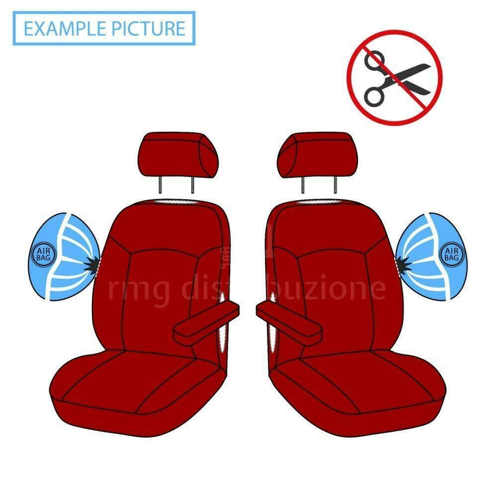 Coprisedili Anteriori Phedra Versione compatibili con sedili con airbag con Fori per i poggiatesta e bracciolo Laterale 2002-2005