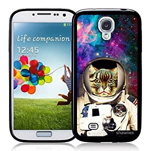 Cool Painting Galaxy S4 Case - S IV Case - Shawnex Astranout Space Hipster Cat Samsung Galaxy i9500 Case Snap On Case