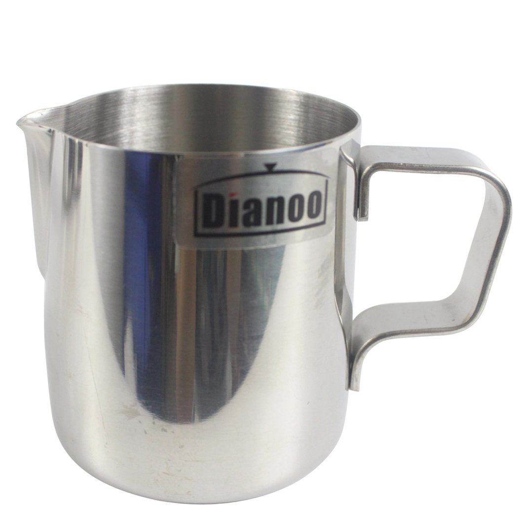 Dianoo Milk Pitcher, Stainless Steel Milk Cup, Good Grip Frothing Pitcher, Coffee Pitcher, Milk Frother & Latte Art, 1PCS (150ML) worth2buy FEMIHGFJGUGD141