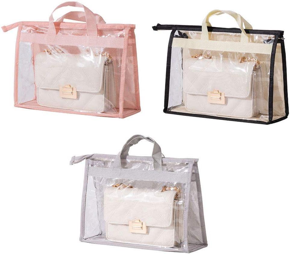 &Aelig;&Mdash; 3Pcs Transparent Handbags Dust Storage Bag Anti-Dust Purse Storage Bag Clear Dust-Proof Bag Closet Purse Storage Organizer Hanging Handbag Dust Cover Bag mit Zipper und Handle, L