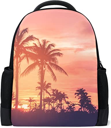 Personalized Tropical Sunset Kids Backpack