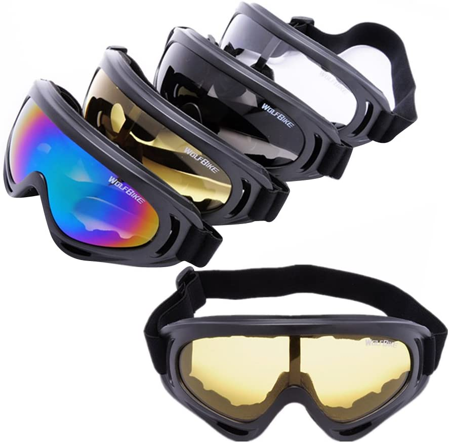 MagiDeal Lunettes de Ski Masques Snowboard de Protection Lentilles Anti/éblouissant