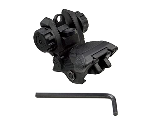 SNIPER® Tactical Picatinny Rear Flip Up AR15 M16 M4 M-4 Flattop Sight