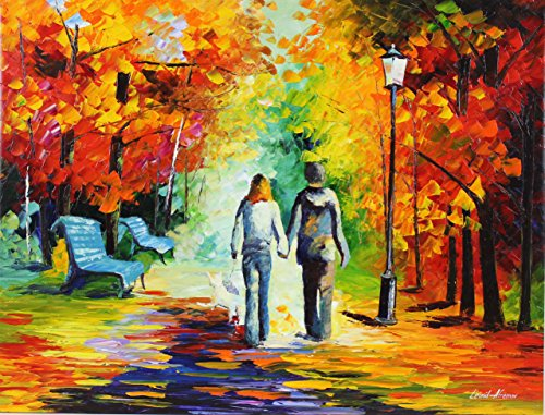 STROLLING TOGETHER is the ONE-OF-A-KIND, ORIGINAL hand painted oil painting on Canvas by Leonid AFREMOV