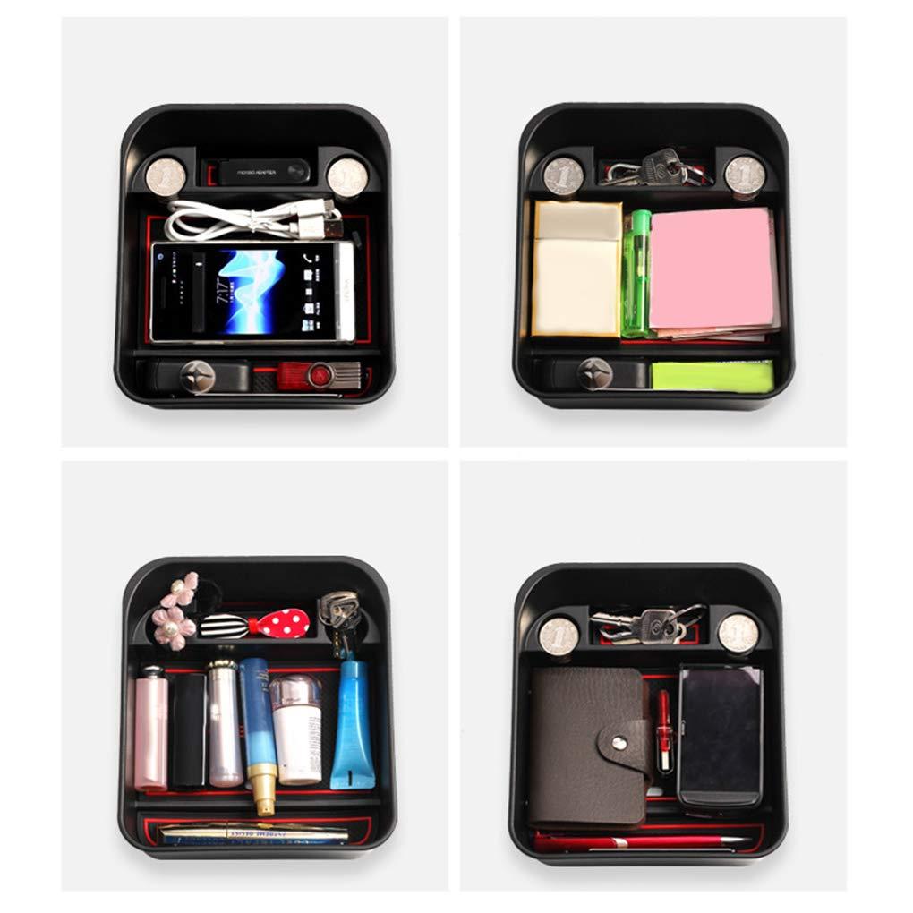 Pandiki Replacement For Range Rover Evoque 2012-2018 Center Console Coins Wallet Storage Armrest Box Sundries Organizer Tray