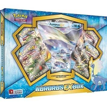 Aurorus Ex Box - Juego de cartas de Pokémon, productos especiales: Amazon.es: Juguetes y juegos