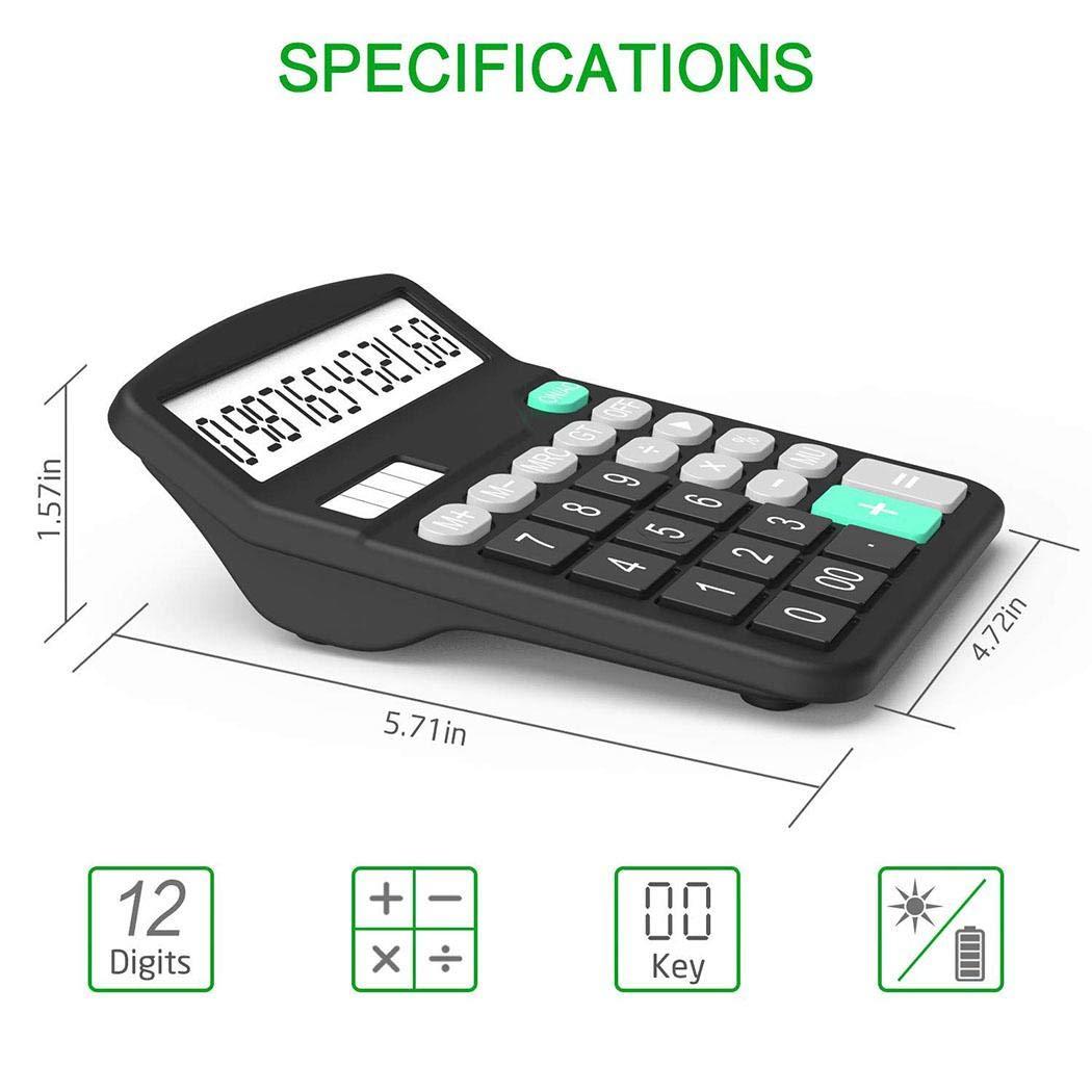XioNiu Solar Battery Calculator Portable Large LCD Display Office Calculator Basic