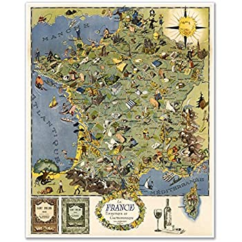 La France Map.Amazon Com Map Of France Carte De France Poster Print