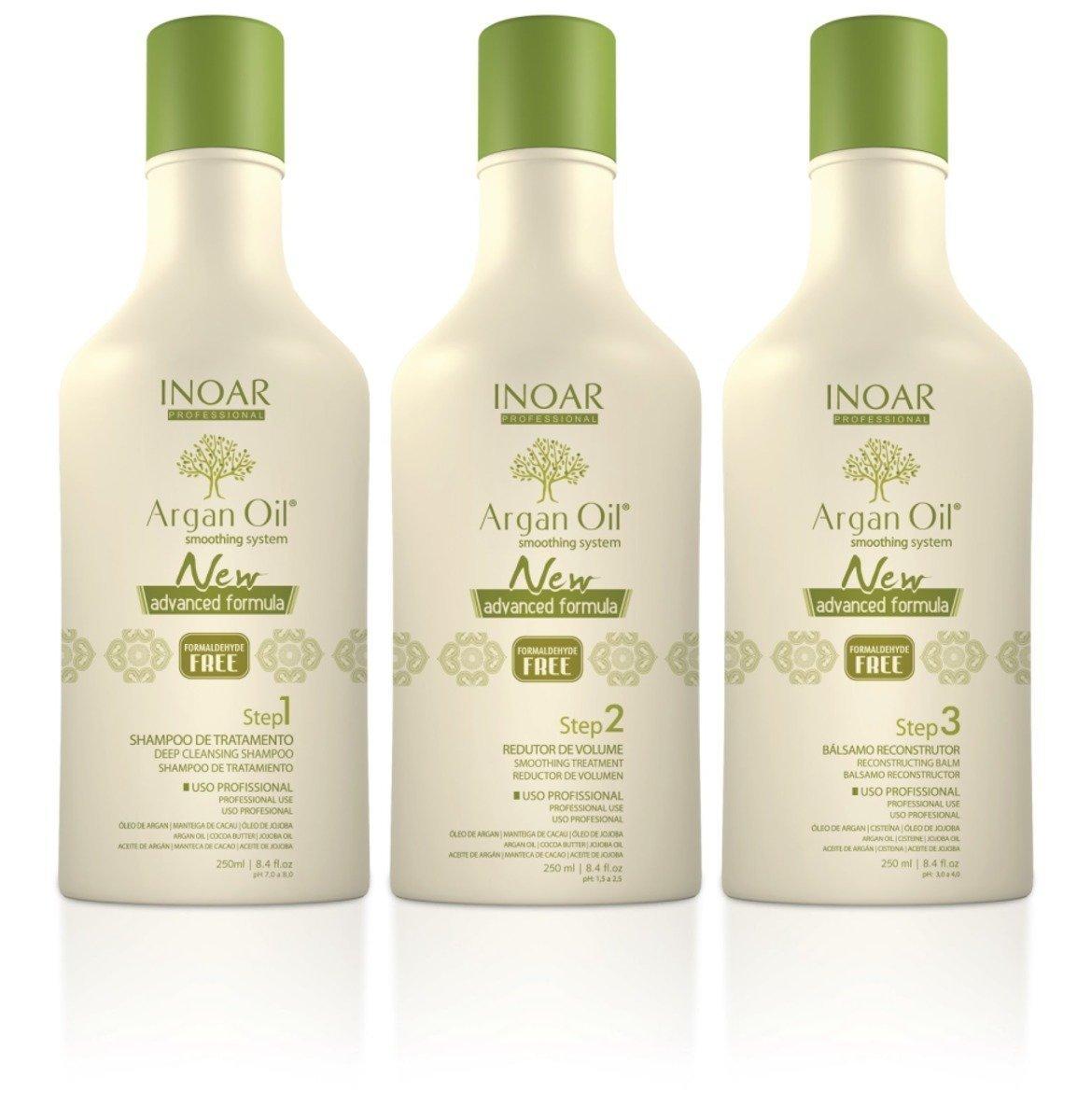 Inoar Olio di Argan cheratina sistema di trattamento 250 ml Inoar Professional 887366525