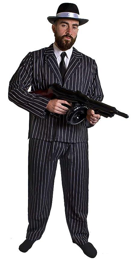 ILOVEFANCYDRESS Disfraz DE Gangster para Adultos Conjunto TEMATICO ...