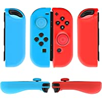 TNP Case for Joy-Con Grip Gel Guards with Thumb Grips Caps - Protective Case Covers Anti-Slip Ergonomic Lightweight…