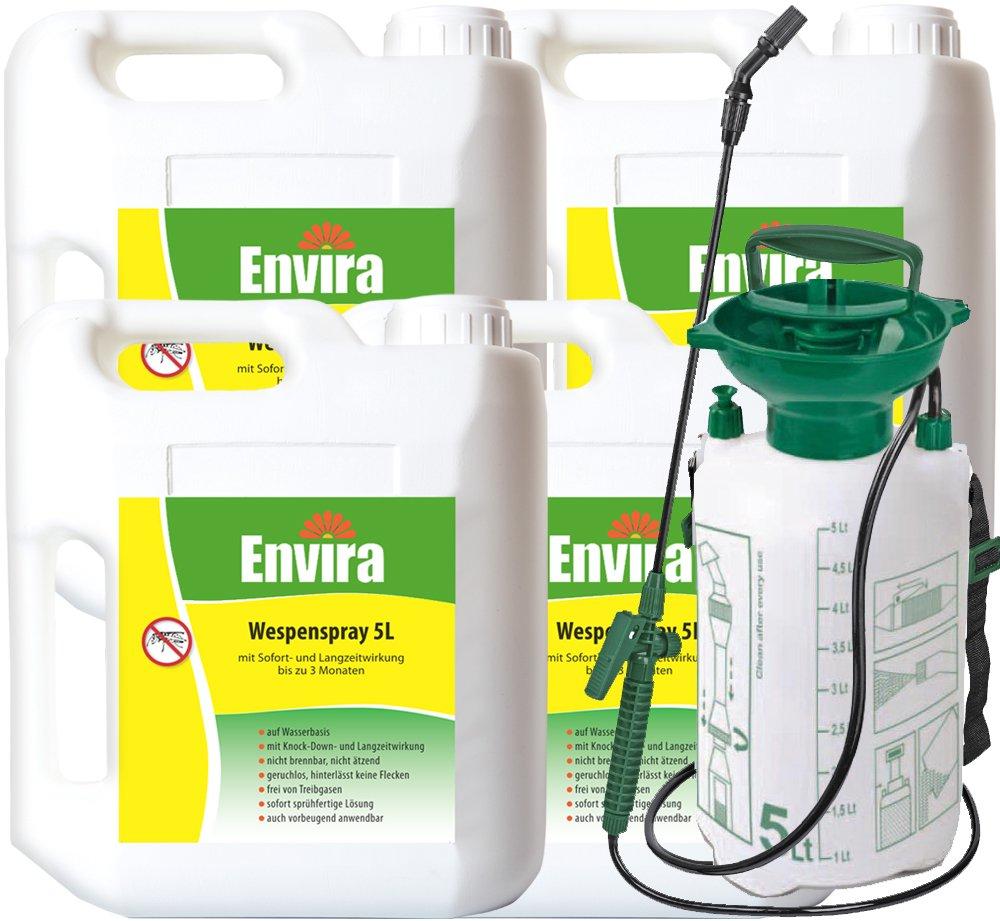 ENVIRA Wespenabwehr Spray 4x5Ltr + 5Ltr Sprüher