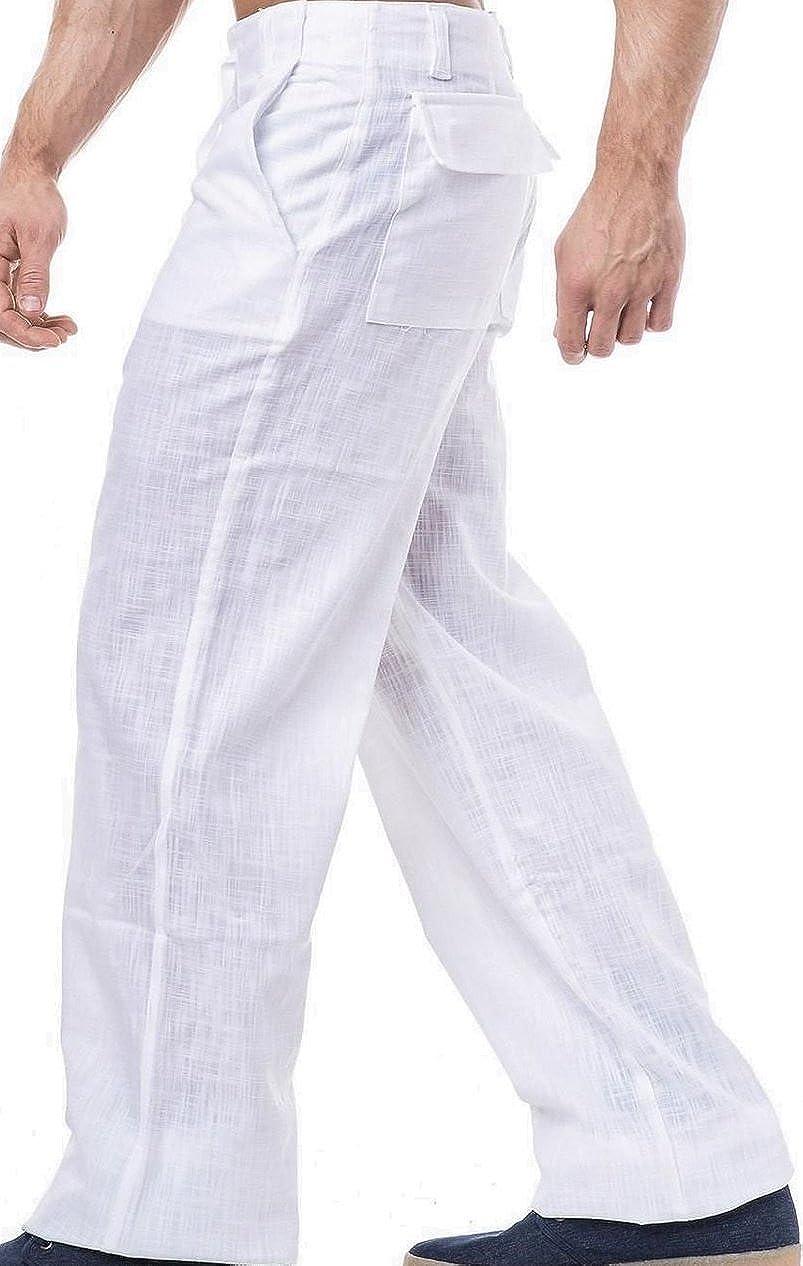 KDWN Leinenhose Freizeithose in schwarz oder Weiss erhältlich