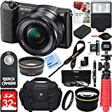 Kyпить Sony Alpha a5100 HD 1080p Mirrorless Digital Camera Black + 16-50mm Lens Kit + 32GB Accessory Bundle + DSLR Photo Bag + Extra Battery + Wide Angle Lens + 2x Telephoto Lens + Flash + Remote + Tripod на Amazon.com