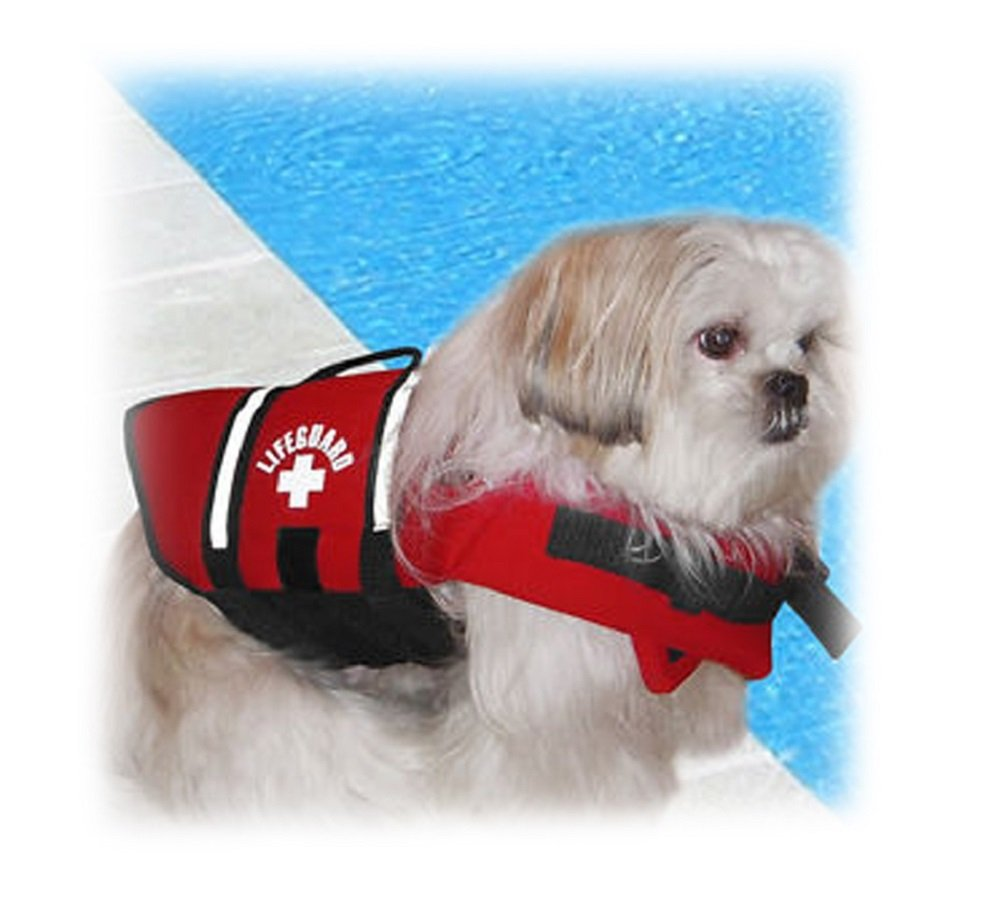 Paws Aboard Red Neoprene Life Jacket Dog or Cat Life Preserver X-Small
