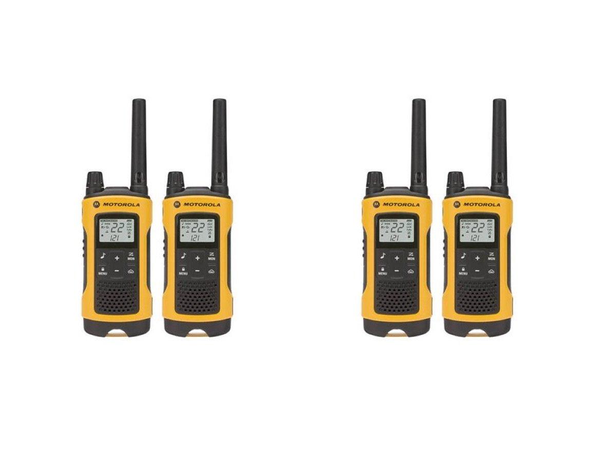 Motorola Talkabout T400 Two-Way Radios / Walkie Talkies - Weatherproof PTT IVOX Eco Smart 4-PACK