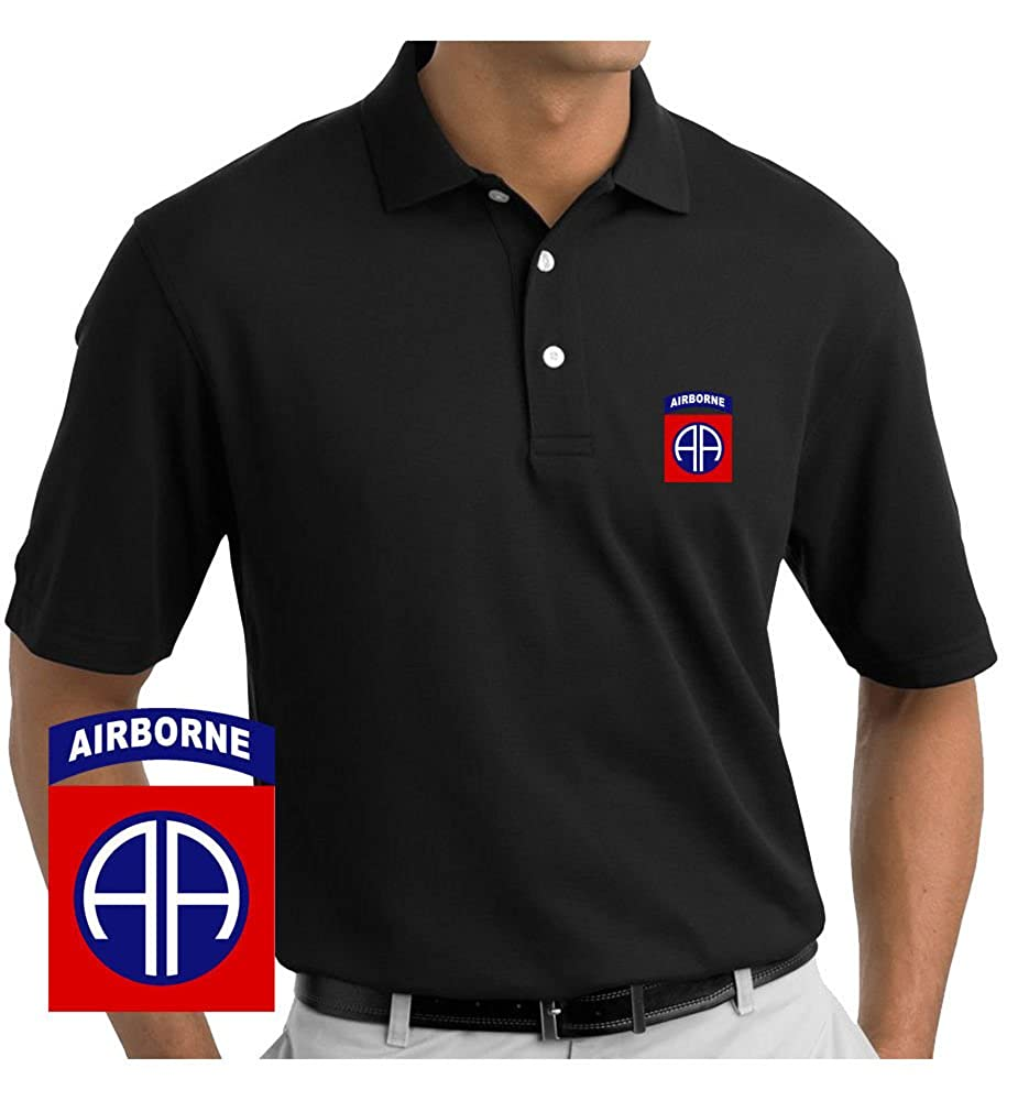 Vetfriends Army 82nd Airborne Division Embroidered Polo Shirt At