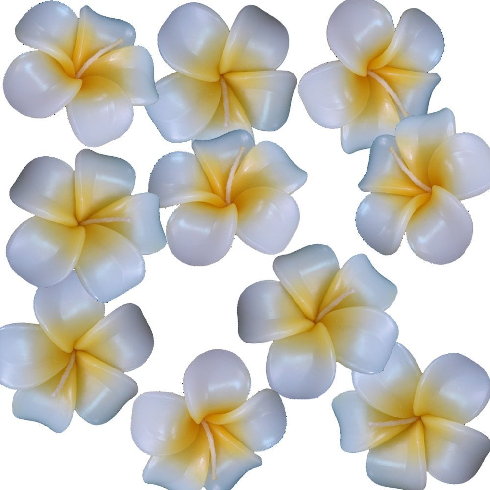 Relax Spa Shop @ Floating Candles ,Aromatherapy Relax (Set of 10 Frangipani Handmade Candles) by Relax Spa Shop
