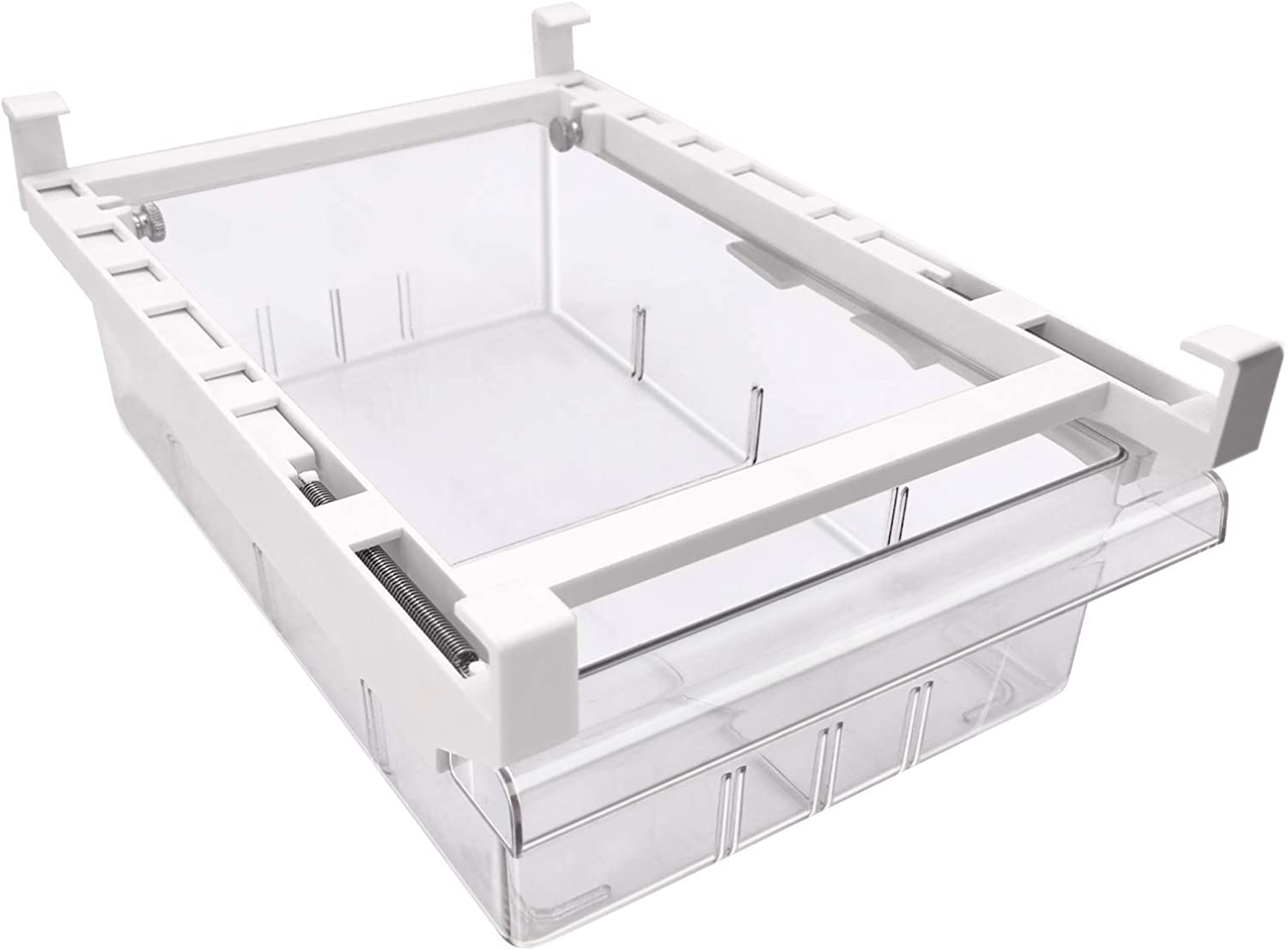 Refrigerator Organizer Bins, Under the Refrigerator Partition Organizers and Storage Box, Fit for Fridge Shelf Under 0.6""