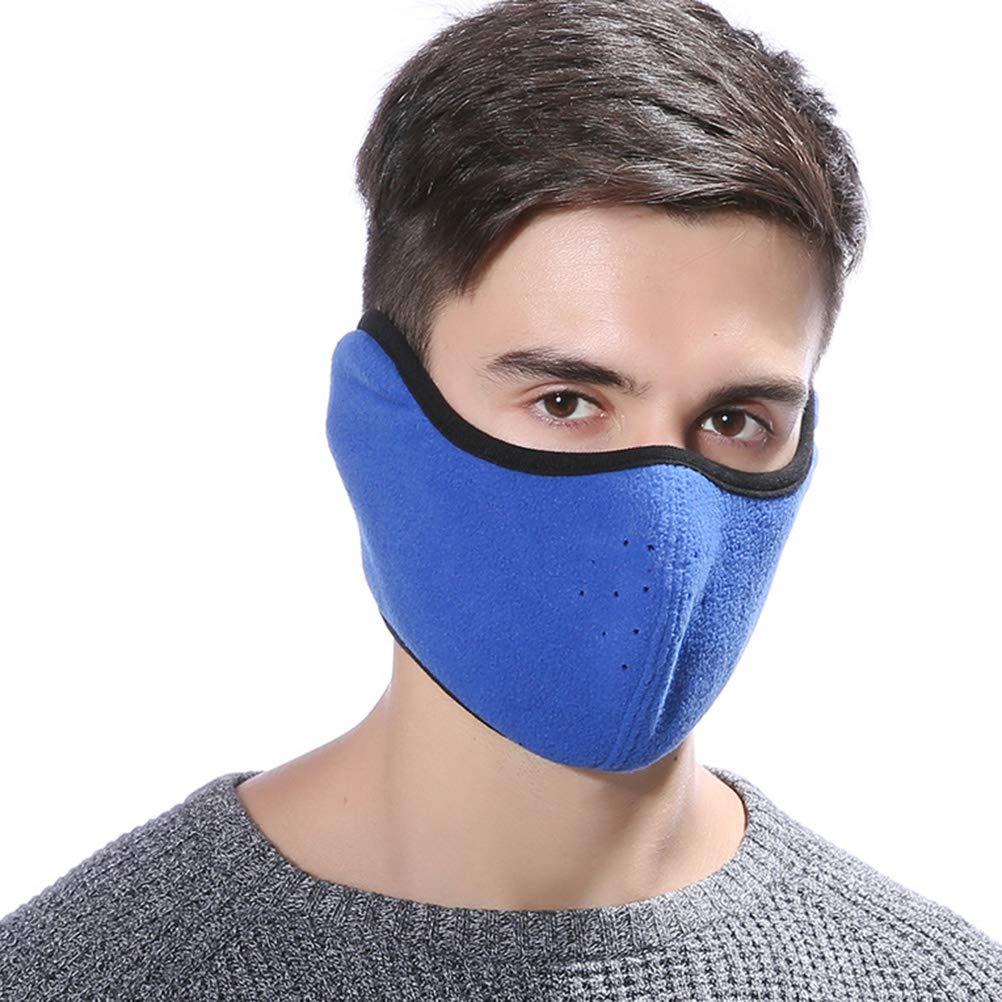 LIOOBO Máscara bucal de Invierno, máscara de esquí a Prueba de Viento contra el Polvo, máscara de vellón más cálida para Mujeres Hombres (Azul) máscara de esquí a Prueba de Viento contra el Polvo