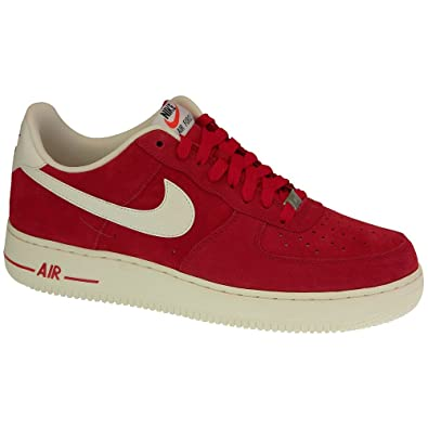 Nike Air Force 1 Suede rouge Chaussures Baskets homme
