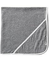 Burt's Bees Baby - Infant Single Ply Hooded Towel, 100% Organic Cotton (Heather Grey)