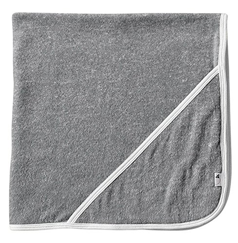 Organic Cotton Bath Towel (Burt's Bees Baby - Infant Single Ply Hooded Towel, 100% Organic Cotton (Heather Grey))