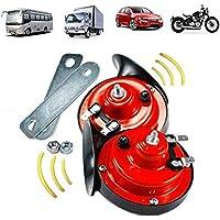 Boat Train 300DB Super Loud Train Air Horn,12v Waterproof Snail Shaped Electric Air Horn Kit for Truck Motorcycle,Car,Bike