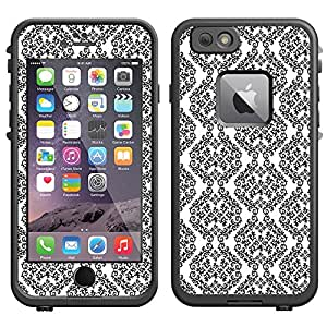 Skin Decal for LifeProof Apple iPhone 6 Case - Victorian Stunning Black on White