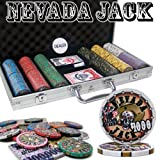 300 Ct Nevada Jack 10 Gram Ceramic Poker Chip Set w/ Aluminum Case by Brybelly