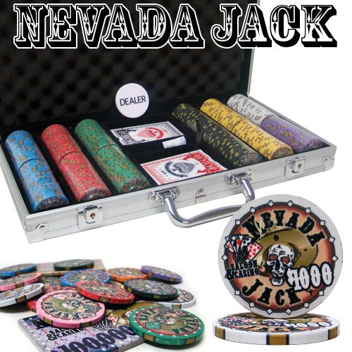 300 Ct Nevada Jack 10 Gram Ceramic Poker Chip Set w/ Aluminum Case by Brybelly by Brybelly