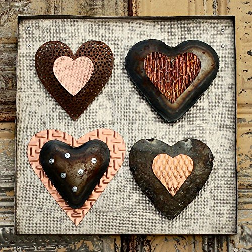 Industrial Metal Hearts Wall Decor by Rivet + Rust