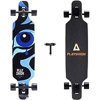 """Playshion Longboard 39"""", Rodamiento de Bolas ABEC-9, Drop-Through Freeride Skateboards Cruiser"""