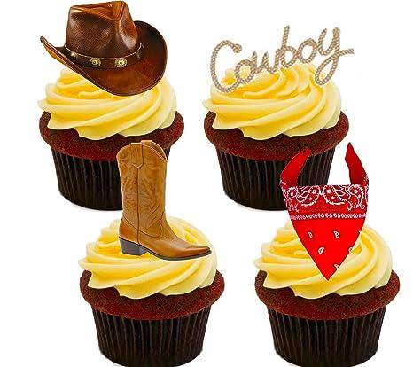 Vaquero Western Decoración Para Tarta Para Comestible