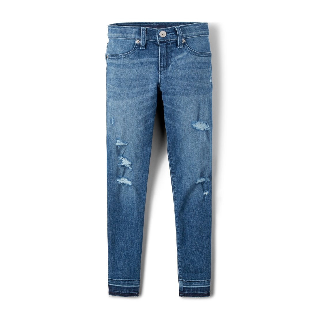 The Children's Place Big Girls' Destructed Denim, Medium Swss Blue Wash, 14 by The Children's Place (Image #1)