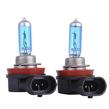 2 Bombillas LED H11 para luz de cruce y antiniebla, 55W, 12 V CC, luz de temperatura 5000K: Amazon.es: Coche y moto