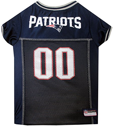 Pets First NFL NEW ENGLAND PATRIOTS DOG Jersey, Small - Bandana Dog T-shirt