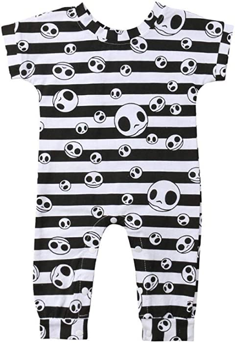 12583932e ... Sleeve Striped Skul Playsuit One Piece Outfits. Gerber Baby Clothes  Urban Baby Clothes Joker Baby Clothes Halloween Newborn Infant Baby Girl  Boy Striped