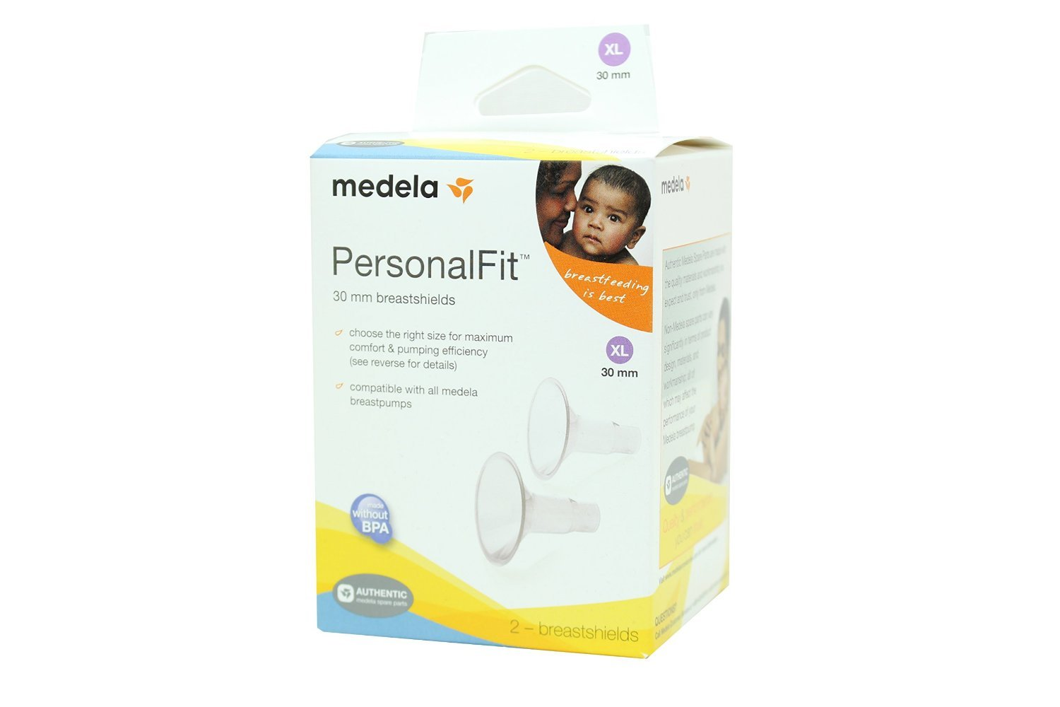 Medela PersonalFit Breastshields (2), Size: X-Large (30mm) in Retail Packaging (Factory Sealed) #87075 by Medela