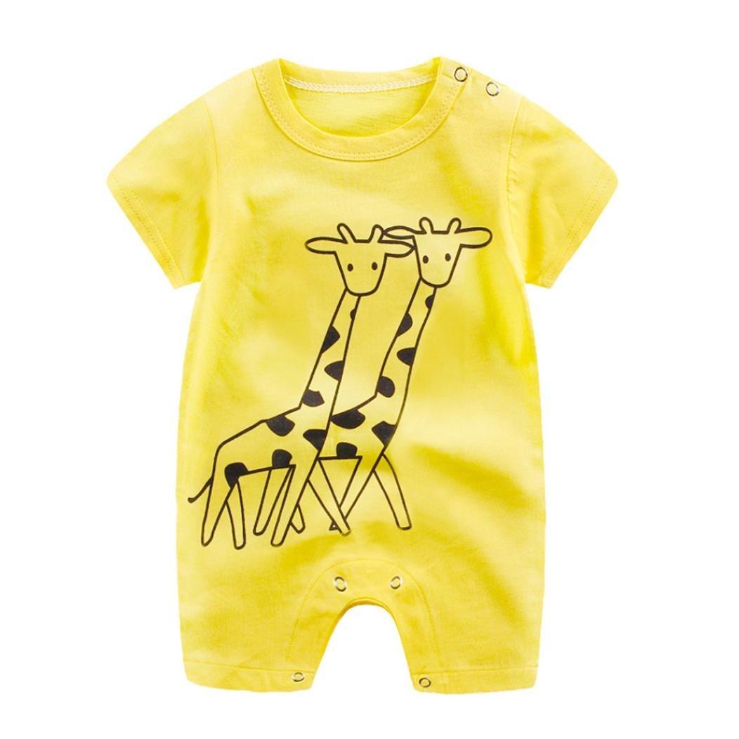 【楽天ランキング1位】 ホット!!Baby 1 Boy イエロー Girl Cartoonロンパースかわいいジャンプスーツ、0 – 24 Boy Monthes新生児幼児半袖登山服 Size:3-6M イエロー 1 B077BPTVBS イエロー Size:6-12M Size:6-12M|イエロー, イズシチョウ:c833c633 --- svecha37.ru