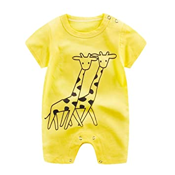 09062f2e1b60 Amazon.com  HOT!!Baby Boy Girl Cartoon Romper Cute Jumpsuit