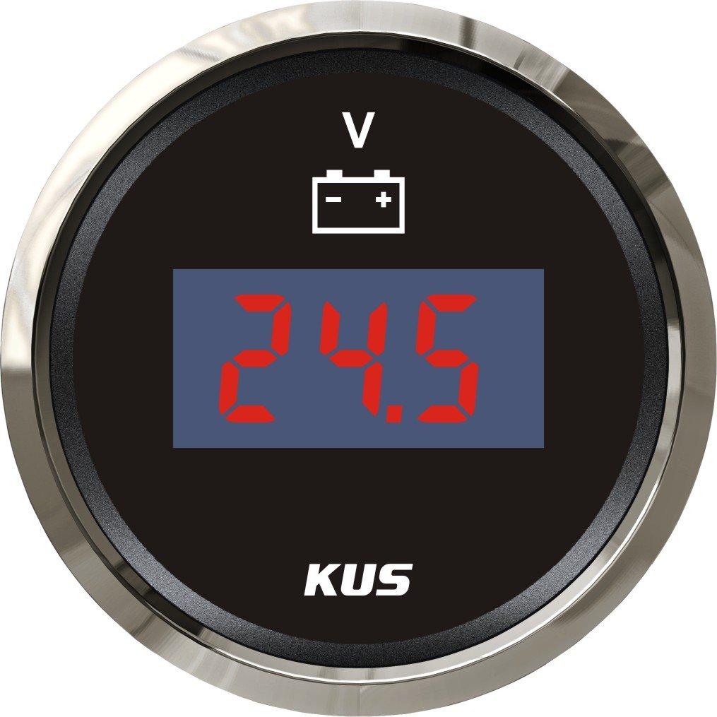 Kus Digital Voltmè tre Jauge de tension 9– 32 V avec ré troé clairage 52 mm (5, 1 cm) 1cm) SPR
