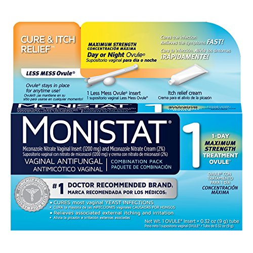 Monistat 1 Vaginal Antifungal Day or Night 1-Day Treatment C