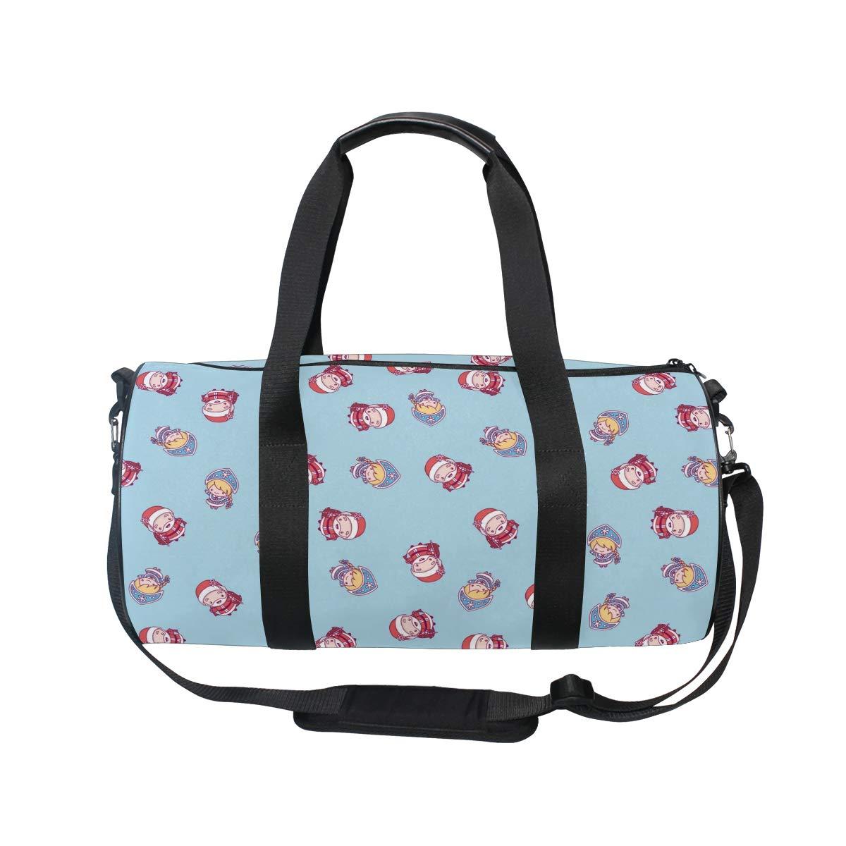 Santa Claus Christmas Popular casual fitness bag,Non-Slip Wearable Crossbody Bag Waterproof Shoulder Bag.